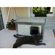 [RH_C1-W] Cușcă Thermo WOODY CAT cu geam panoramic pentru pisici (H*SZxM:54x38x28cm)