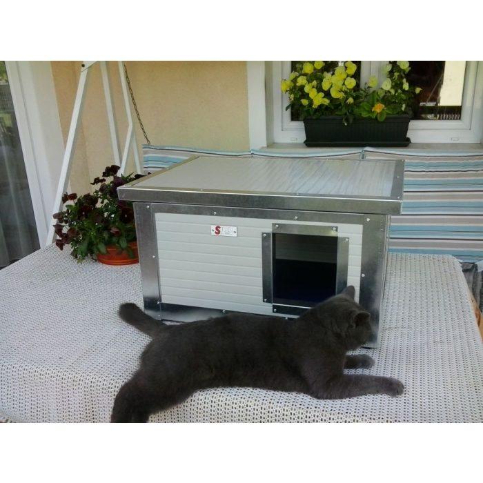 [RH_C1] Cușcă Thermo WOODY CAT pentru pisici  (H*SZxM:54x38x28cm)
