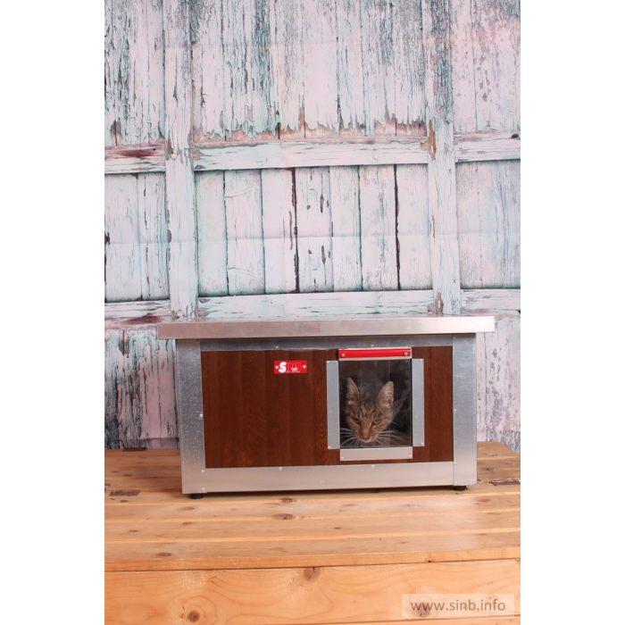 """[IF-W-HC1] INFRAFŰTÉSES Thermo WOODY cicaház """"CAT"""" belméret (H*SZxM:54x38x28cm)"""